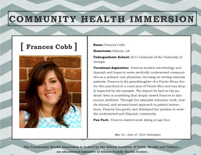 Cobb, Frances - Profile