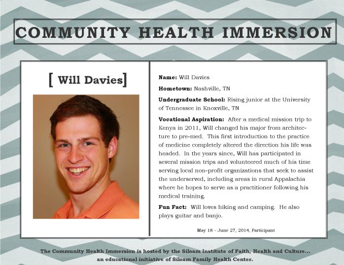 Davies, Will - Profile