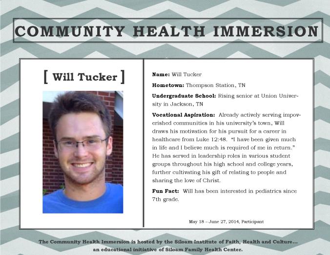Tucker, Will - Profile