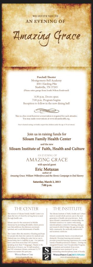 Amazing Grace - Siloam's 2013 Fundraiser