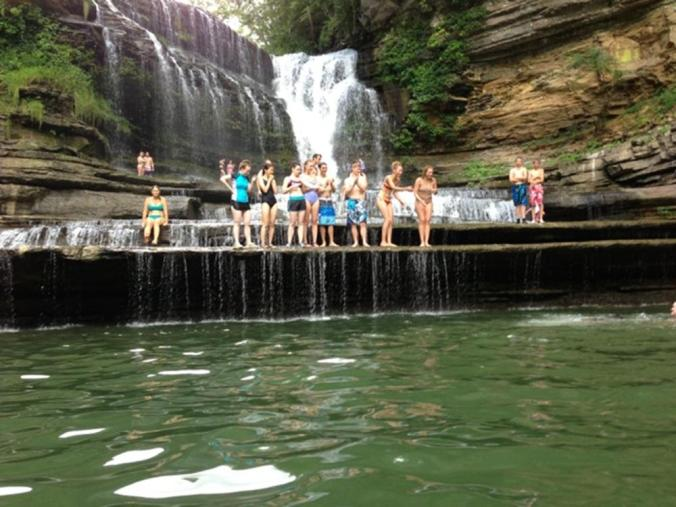 Cummins Falls is visited by the CHI students