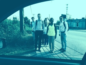 Caught on camera by Siloam's CEO Morgan Wills, the CHI students walk the final steps of their nearly two-hour journey via bus from South Nashville...to...well, a little bit north of South Nashville.